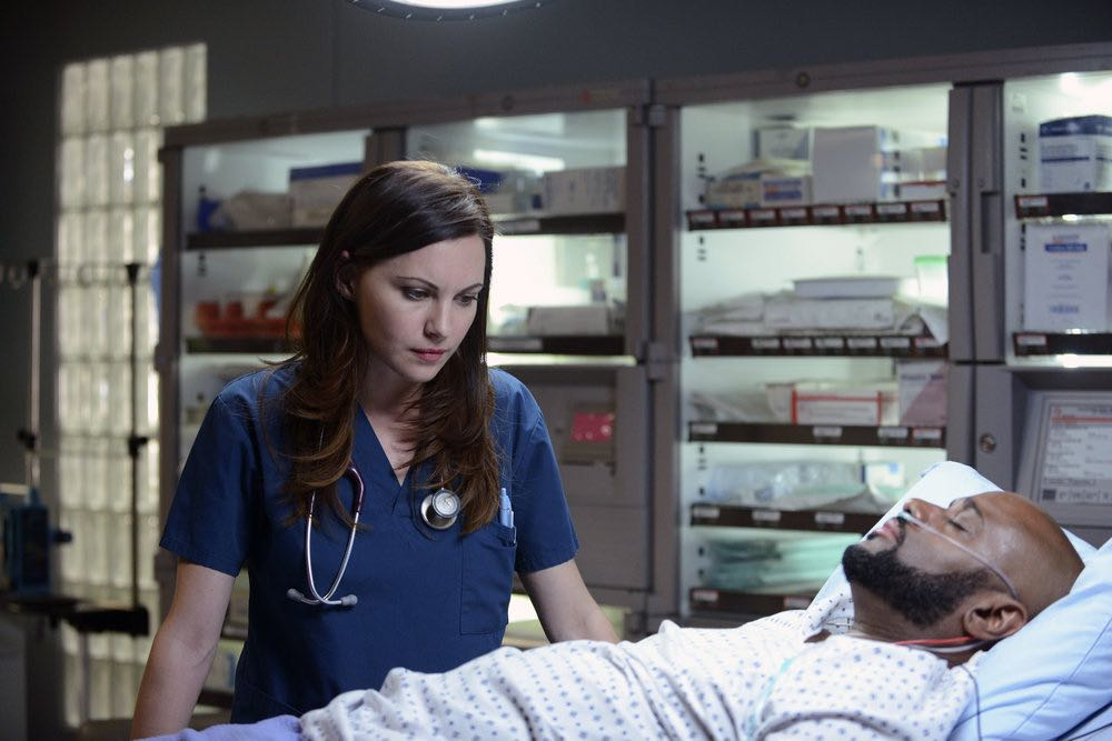 """THE NIGHT SHIFT-- """"Between a Rock and a Hard Place"""" Episode 310 -- Pictured: Jill Flint as Dr. Jordan Alexander -- (Photo by: Ursula Coyote/NBC)"""