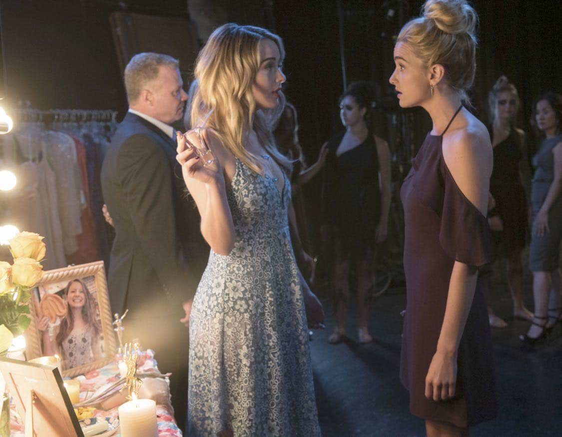 "THE EXORCIST: L-R: Hannah Kasulka and Brianne Howey in the ""Chapter Three: Let 'Em In"" episode of THE EXORCIST airing Friday, Oct. 7 (9:00-10:00 PM ET/PT) on FOX. ©2016 Fox Broadcasting Co. Cr: Jean Whiteside/FOX"