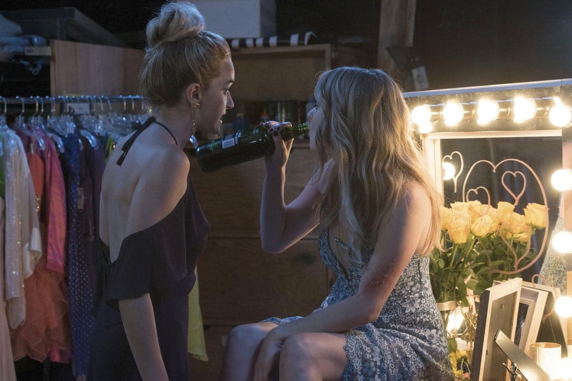 """THE EXORCIST: L-R: Brianne Howey and Hannah Kasulka in the """"Chapter Three: Let 'Em In"""" episode of THE EXORCIST airing Friday, Oct. 7 (9:00-10:00 PM ET/PT) on FOX. ©2016 Fox Broadcasting Co. Cr: Jean Whiteside/FOX"""