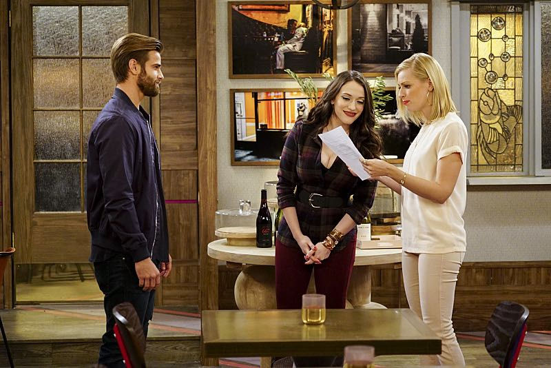 """And The Two Openings: Part One"" -- Pictured: Max Black (Kat Dennings) and Caroline Channing (Beth Behrs). As Max and Caroline, now part owners of the diner, put the finishing touches on their newly converted Dessert Bar, Max deals with the aftermath of her recent breakup with Randy, and Sophie and Oleg prepare for the birth of their baby, on the sixth season premiere of 2 BROKE GIRLS, Monday, Oct. 10 (9:00-9:30 PM, ET/PT) on the CBS Television Network. Photo: Sonja Flemming/CBS ©2016 CBS Broadcasting, Inc. All Rights Reserved"