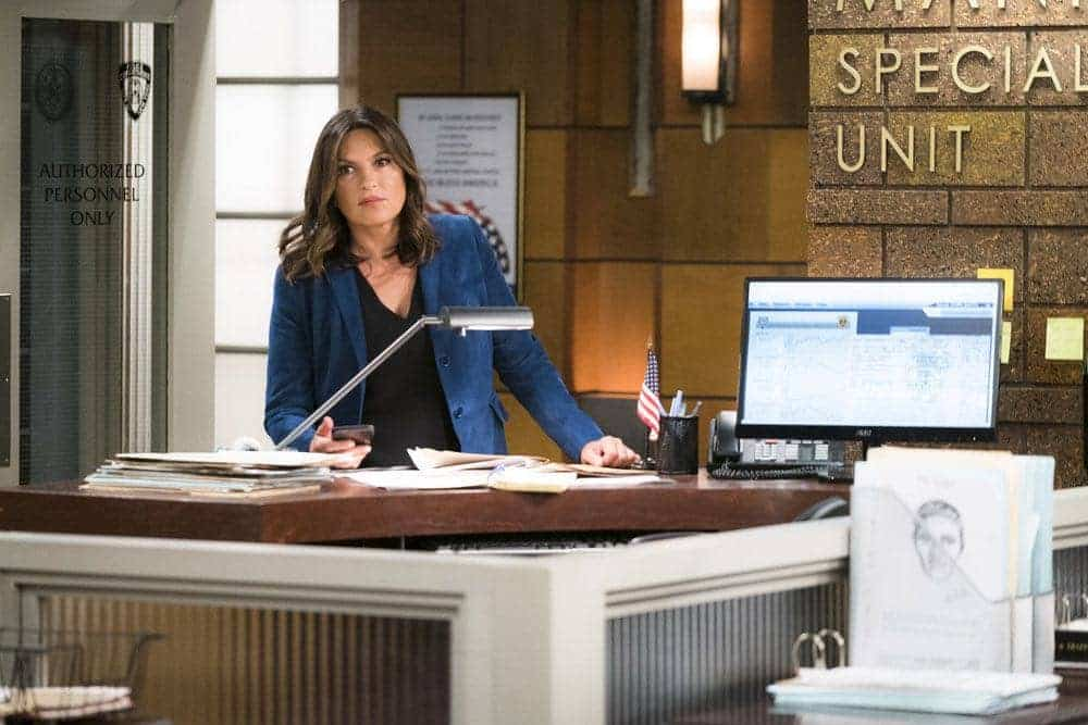 "LAW & ORDER: SPECIAL VICTIMS UNIT -- ""Imposter"" Episode 1803 -- Pictured: Mariska Hargitay as Lieutenant Olivia Benson -- (Photo by: Michael Parmelee/NBC)"