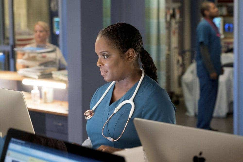 "CHICAGO MED -- ""Brother's Keeper"" Episode 204 -- Pictured: Marlyne Barrett as Maggie Lockwood -- (Photo by: Elizabeth Sisson/NBC)"
