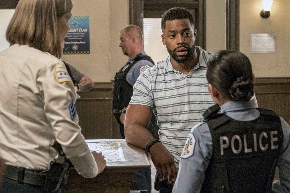 "CHICAGO P.D. -- ""Big Friends Big Enemies"" Episode 403 -- Pictured: LaRoyce Hawkins as Kevin Atwater -- (Photo by: Matt Dinerstein/NBC)"