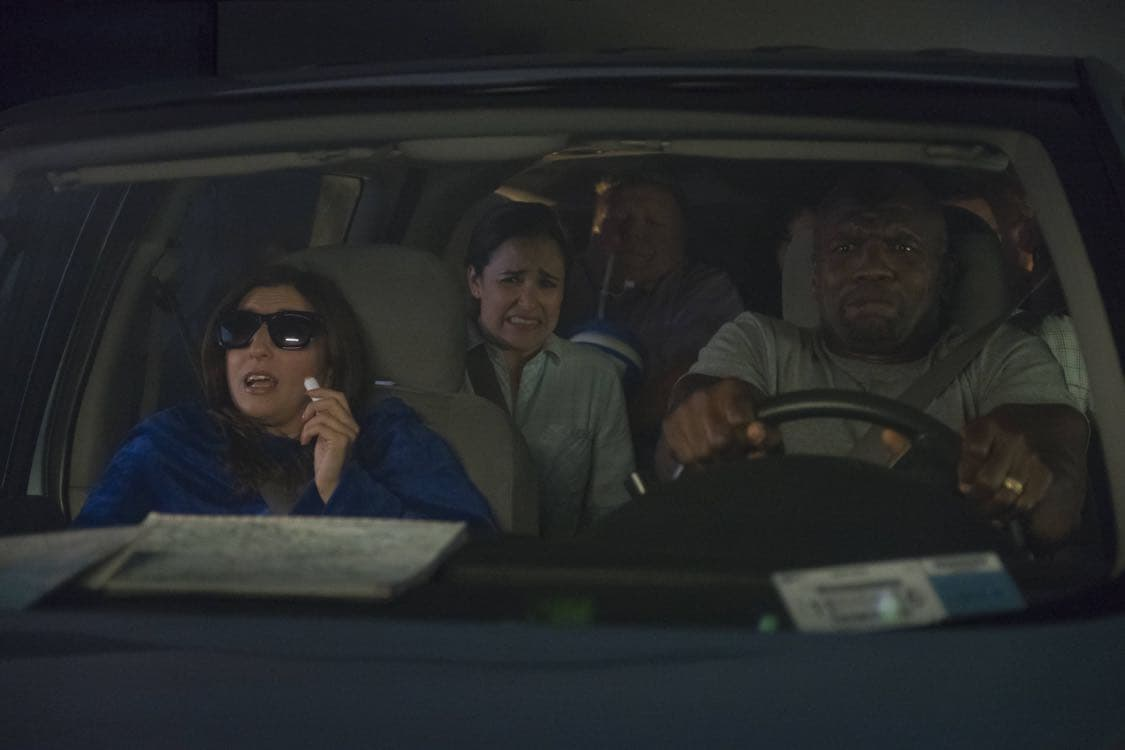 "BROOKLYN NINE-NINE: L-R: Chelsea Peretti, Melissa Fumero and Terry Crews in the ""Coral Palms Pt.3"" episode of BROOKLYN NINE-NINE airing Tuesday, Oct. 4 (8:00-8:30 PM ET/PT) on FOX. CR: John P Fleenor/FOX"