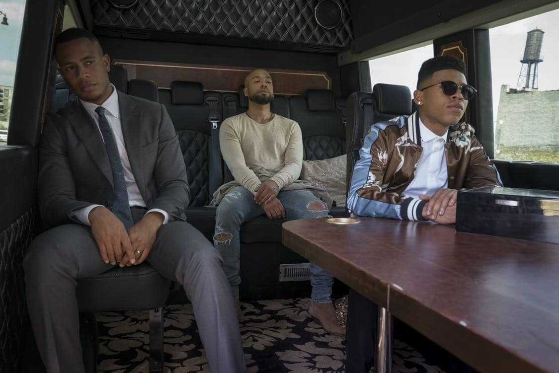 "EMPIRE: Pictured L-R: Trai Byers, Jussie Smollett and Bryshere Gray in the ""What Remains is Bestial"" episode of EMPIRE airing Wednesday, Oct. 5 (9:00-10:00 PM ET/PT) on FOX. ©2016 Fox Broadcasting Co. CR: Chuck Hodes/FOX"