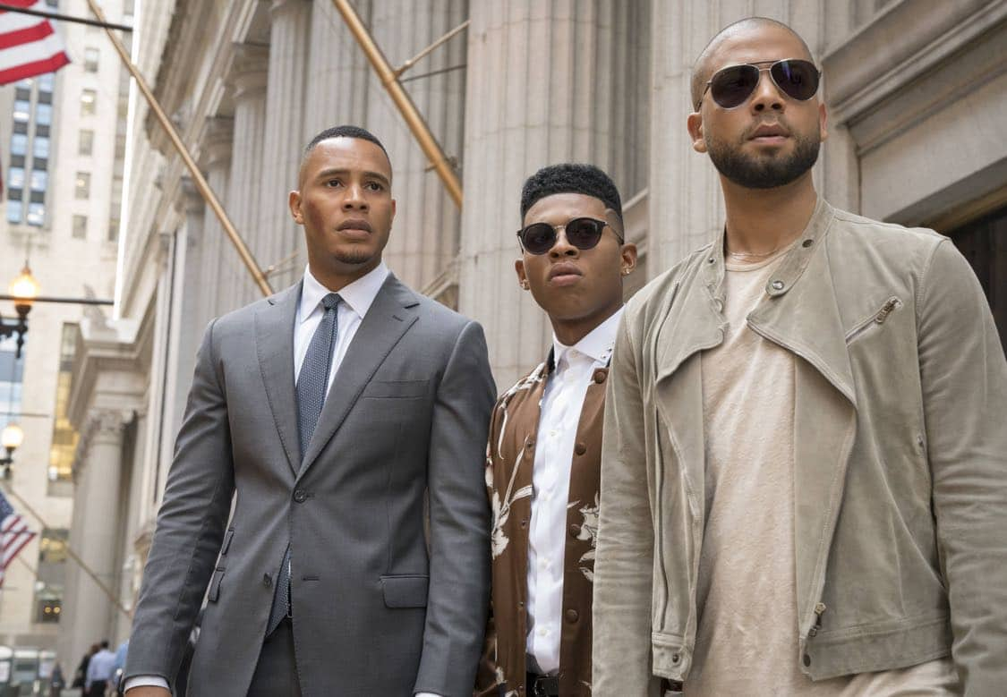 "EMPIRE: Pictured L-R: Trai Byers, Bryshere Gray and Jussie Smollett in the ""What Remains is Bestial"" episode of EMPIRE airing Wednesday, Oct. 5 (9:00-10:00 PM ET/PT) on FOX. ©2016 Fox Broadcasting Co. CR: Chuck Hodes/FOX"