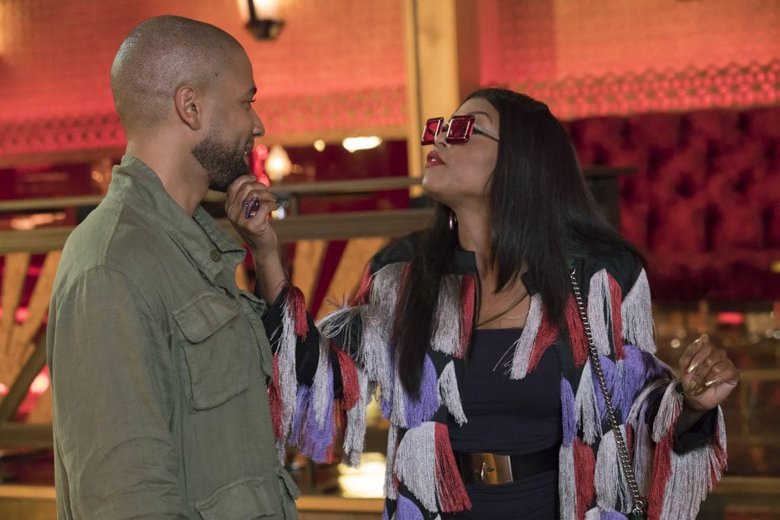 "EMPIRE: Pictured L-R: Jussie Smollett and Taraji P. Henson in the ""What Remains is Bestial"" episode of EMPIRE airing Wednesday, Oct. 5 (9:00-10:00 PM ET/PT) on FOX. ©2016 Fox Broadcasting Co. CR: Chuck Hodes/FOX"