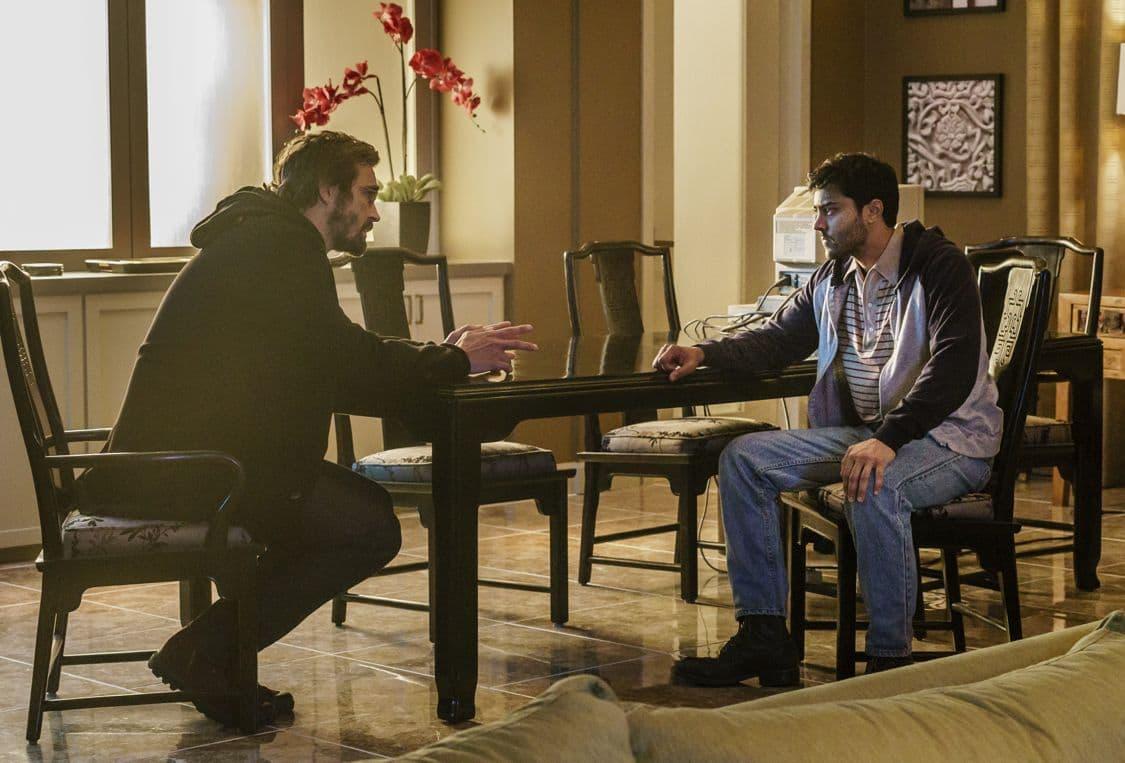 Lee Pace as Joe MacMillan, Manish Dayal as Ryan Ray- Halt and Catch Fire _ Season 3, Episode 8 - Photo Credit: Tina Rowden/AMC