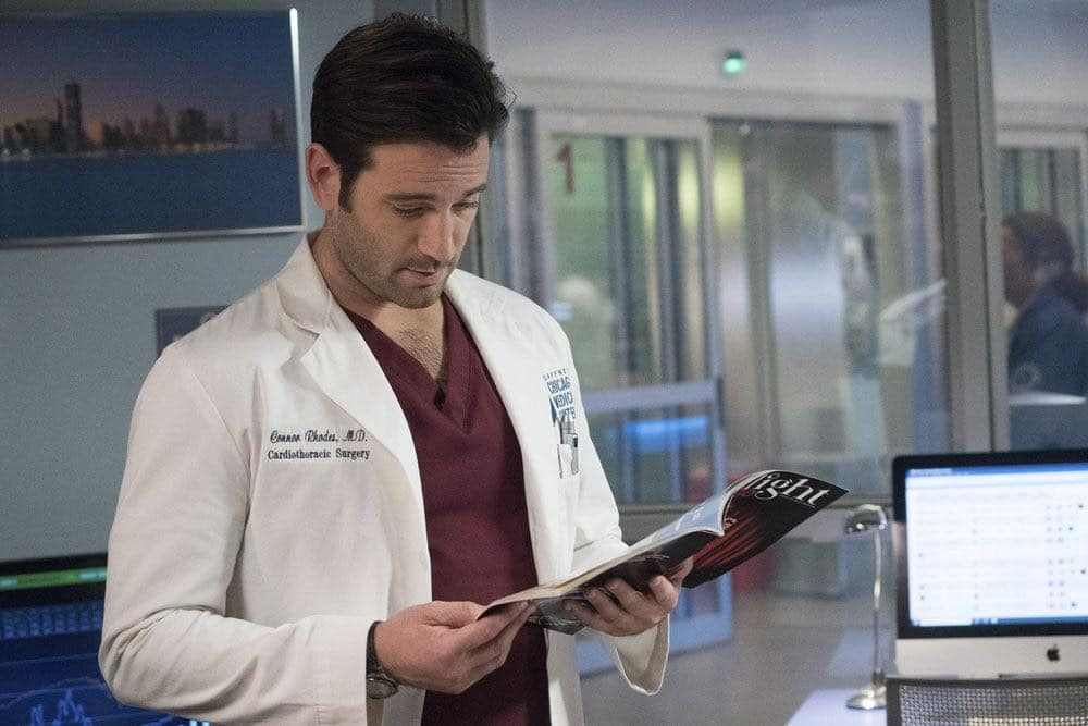 """CHICAGO MED -- """"Natural History"""" Episode 202 -- Pictured: Colin Donnell as Connor Rhodes -- (Photo by: Elizabeth Sisson/NBC)"""