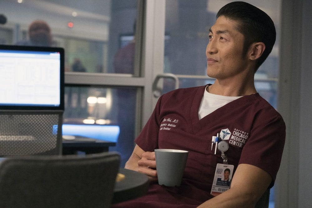 """CHICAGO MED -- """"Natural History"""" Episode 202 -- Pictured: Brian Tee as Ethan Choi -- (Photo by: Elizabeth Sisson/NBC)"""