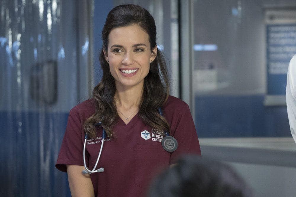 """CHICAGO MED -- """"Natural History"""" Episode 202 -- Pictured: Torrey DeVitto as Natalie Manning -- (Photo by: Elizabeth Sisson/NBC)"""