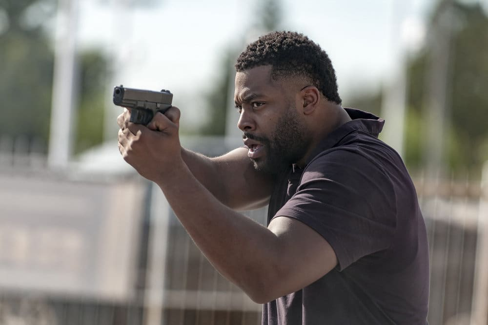 """CHICAGO P.D. -- """"All Cylinders Firing"""" Episode 403 -- Pictured: LaRoyce Hawkins as Kevin Atwater -- (Photo by: Matt Dinerstein/NBC)"""