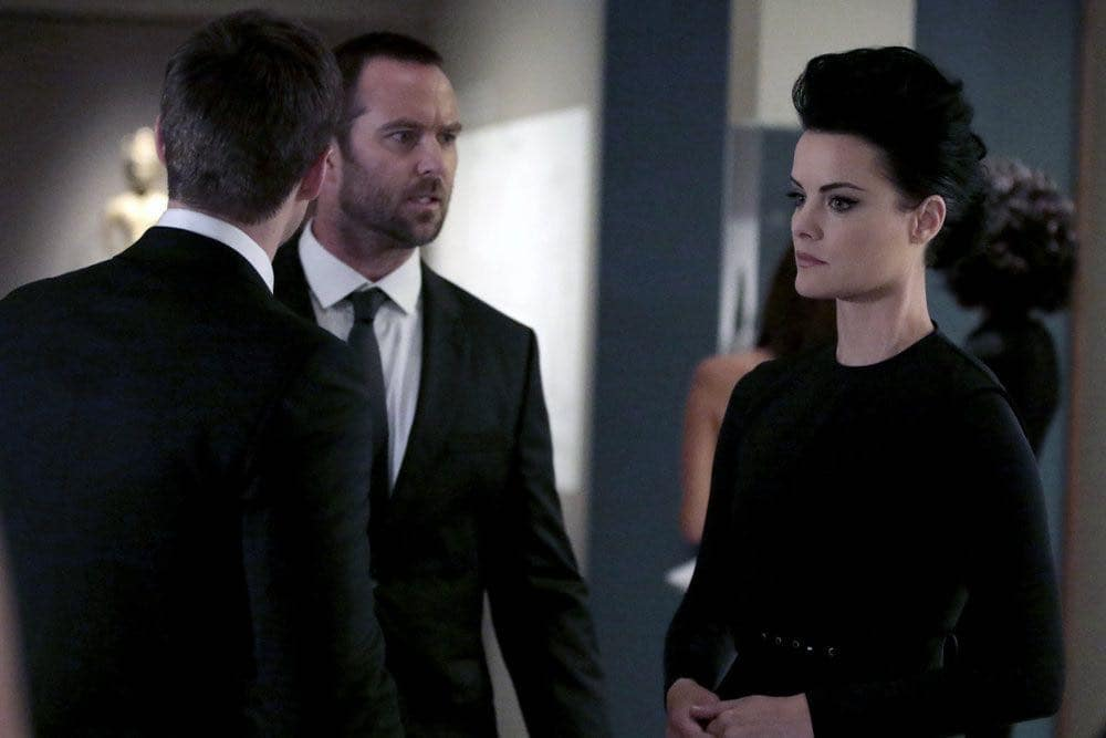 "BLINDSPOT -- ""If Beth"" Episode 204 -- Pictured: (l-r) Jonathan Patrick Moore as Oliver, Sullivan Stapleton as Kurt Weller, Jaimie Alexander as Jane Doe -- (Photo by: Giovanni Ruffino/NBC)"