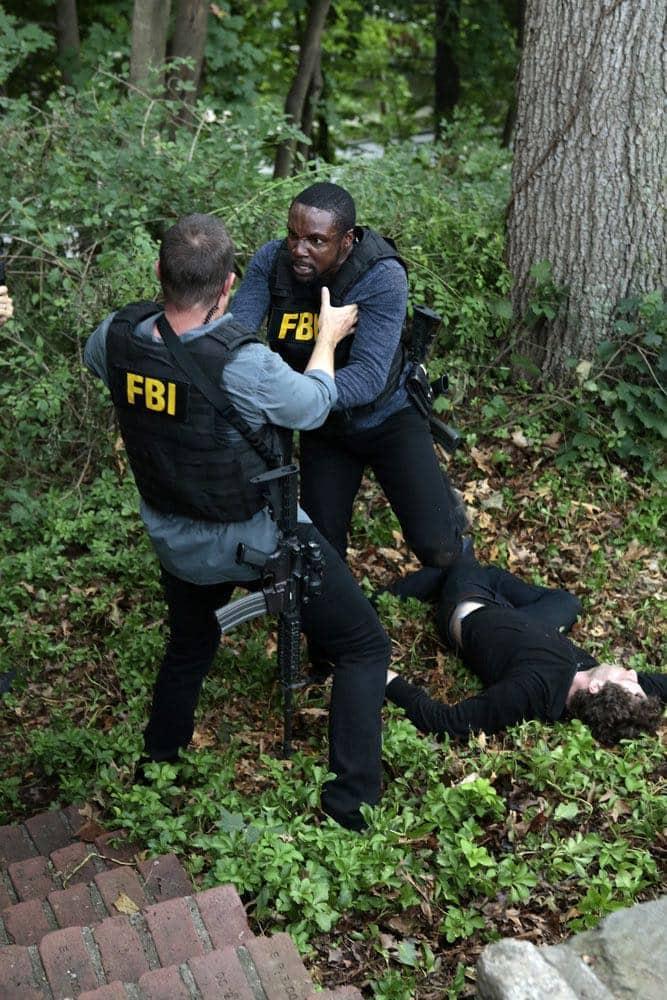 "BLINDSPOT -- ""If Beth"" Episode 204 -- Pictured: (l-r) Sullivan Stapleton as Kurt Weller, Rob Brown as Edgar Reade, Jeff Solomon as Bo Kaier -- (Photo by: Giovanni Ruffino/NBC)"