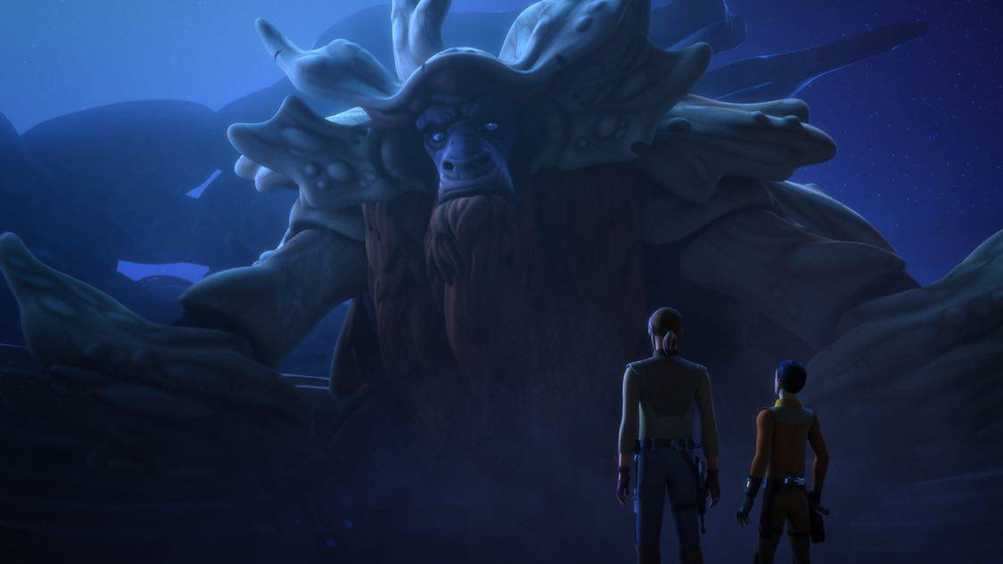 "STAR WARS REBELS - ""The Holocrons of Fate"" - When Maul takes the crew of the Ghost hostage, Ezra and Kanan must recover an ancient Sith artifact to save them. This episode of ""Star Wars Rebels"" airs Saturday, October 01 (8:30-9:00 P.M. EDT) on Disney XD. (Lucasfilm) BENDU"