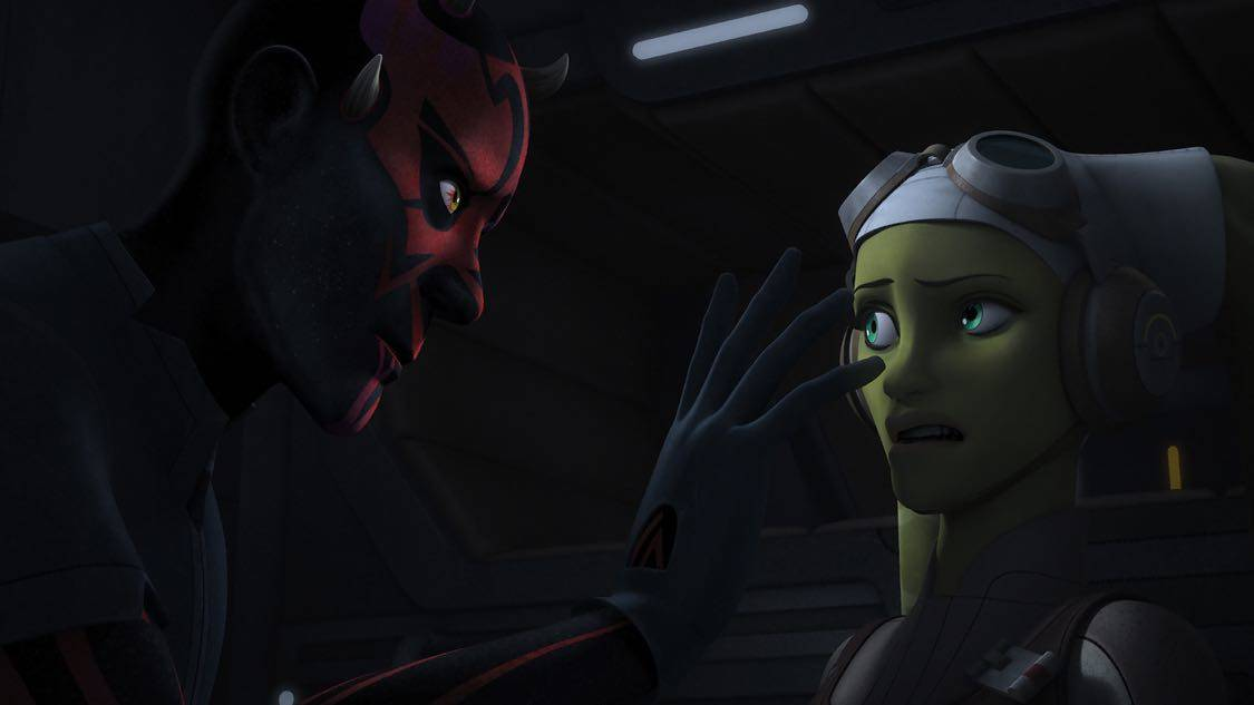 """STAR WARS REBELS - """"The Holocrons of Fate"""" - When Maul takes the crew of the Ghost hostage, Ezra and Kanan must recover an ancient Sith artifact to save them. This episode of """"Star Wars Rebels"""" airs Saturday, October 01 (8:30-9:00 P.M. EDT) on Disney XD. (Lucasfilm) DARTH MAUL, HERA"""