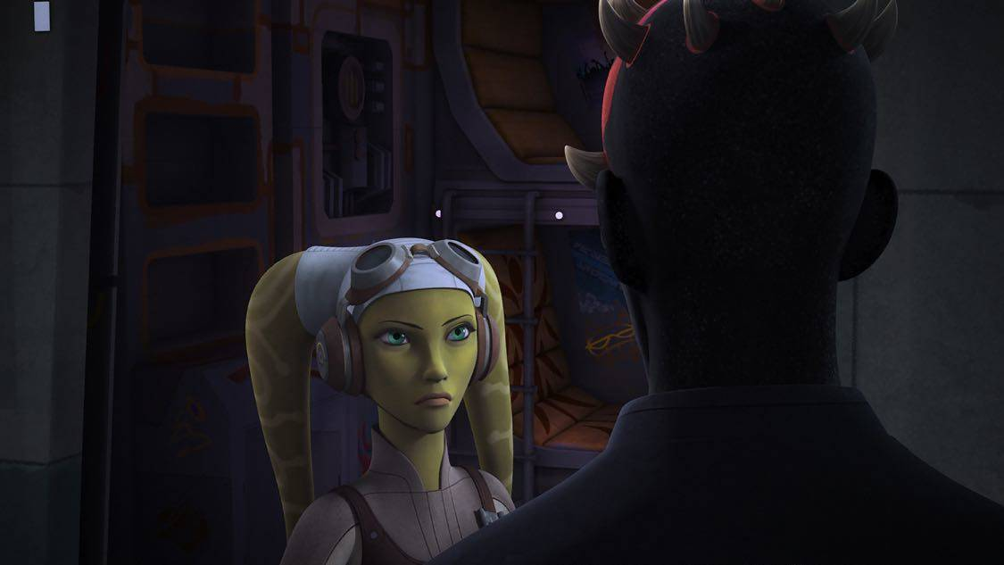 """STAR WARS REBELS - """"The Holocrons of Fate"""" - When Maul takes the crew of the Ghost hostage, Ezra and Kanan must recover an ancient Sith artifact to save them. This episode of """"Star Wars Rebels"""" airs Saturday, October 01 (8:30-9:00 P.M. EDT) on Disney XD. (Lucasfilm) HERA, DARTH MAUL"""