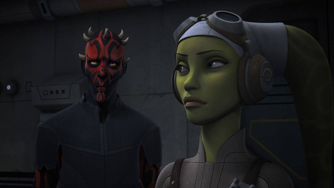 "STAR WARS REBELS - ""The Holocrons of Fate"" - When Maul takes the crew of the Ghost hostage, Ezra and Kanan must recover an ancient Sith artifact to save them. This episode of ""Star Wars Rebels"" airs Saturday, October 01 (8:30-9:00 P.M. EDT) on Disney XD. (Lucasfilm) DARTH MAUL, HERA"