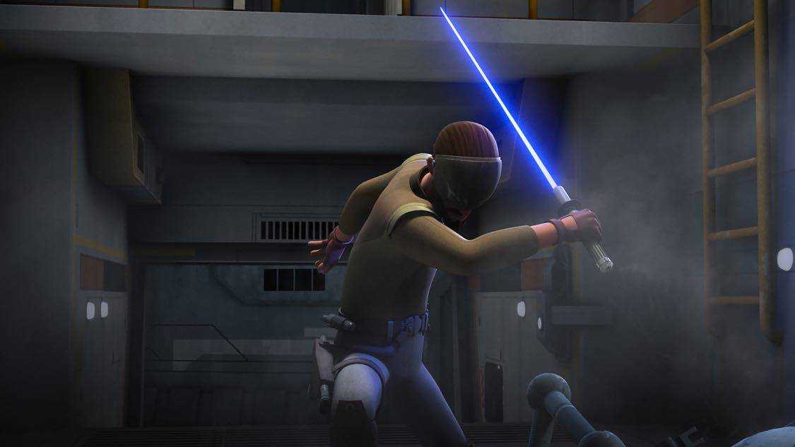 "STAR WARS REBELS - ""The Holocrons of Fate"" - When Maul takes the crew of the Ghost hostage, Ezra and Kanan must recover an ancient Sith artifact to save them. This episode of ""Star Wars Rebels"" airs Saturday, October 01 (8:30-9:00 P.M. EDT) on Disney XD. (Lucasfilm) KANAN"