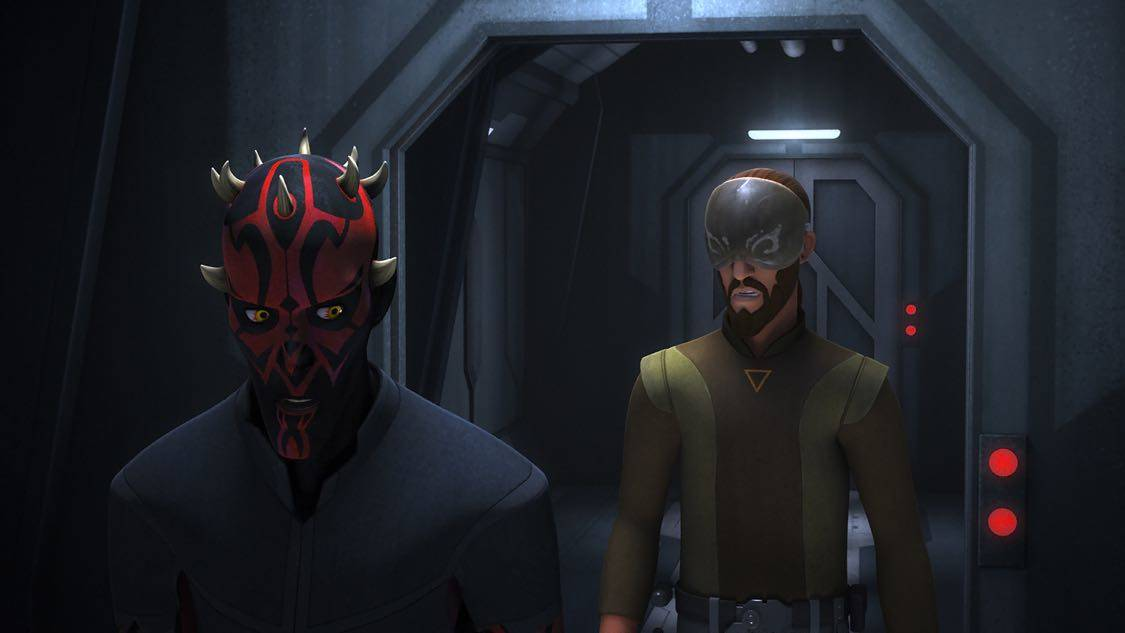 """STAR WARS REBELS - """"The Holocrons of Fate"""" - When Maul takes the crew of the Ghost hostage, Ezra and Kanan must recover an ancient Sith artifact to save them. This episode of """"Star Wars Rebels"""" airs Saturday, October 01 (8:30-9:00 P.M. EDT) on Disney XD. (Lucasfilm) DARTH MAUL, KANAN"""
