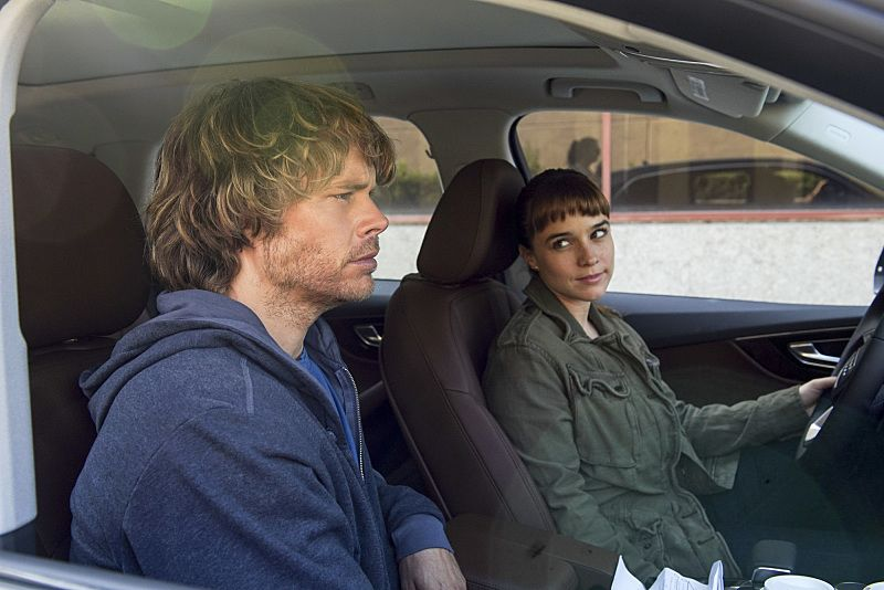 """""""Black Market"""" -- Pictured: Eric Christian Olsen (LAPD Liaison Marty Deeks) and Renée Felice Smith (Intelligence Analyst Nell Jones). After a Homeland Security agent is poisoned by a notorious Triad assassin, NCIS uncovers a warehouse of counterfeit purses and a money trail to stolen government funds. Also, Nell joins the team in the field, on NCIS: LOS ANGELES, Sunday, Oct. 16 (8:00-9:00 PM, ET/PT), on the CBS Television Network. Photo: Ron P. Jaffe/CBS ©2016 CBS Broadcasting, Inc. All Rights Reserved."""