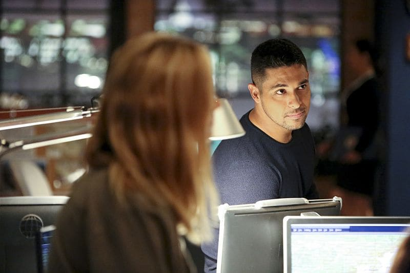 """""""Being Bad"""" -- NCIS uncovers a bomb plot and a long-running theft ring while investigating a death at a Quantico reunion. Also Torres and Quinn adjust to life on Gibbs' team, including new seating arrangements in the squad room, on NCIS, Tuesday, Sept. 27 (8:00-9:00, ET/PT), on the CBS Television Network. Pictured: Wilmer Valderrama. Photo: Patrick McElhenney/CBS ©2016 CBS Broadcasting, Inc. All Rights Reserved"""