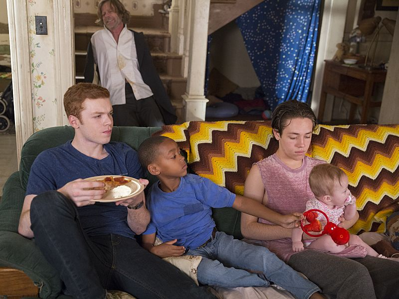 Cameron Monaghan as Ian Gallagher, Brandon/Brenden Sims as Liam Gallagher and Ethan Cutkosky as Carl Gallagher in Shameless (Season 7, episode 1) - Photo: Cliff Lipson/SHOWTIME - Photo ID: shameless_701_1963