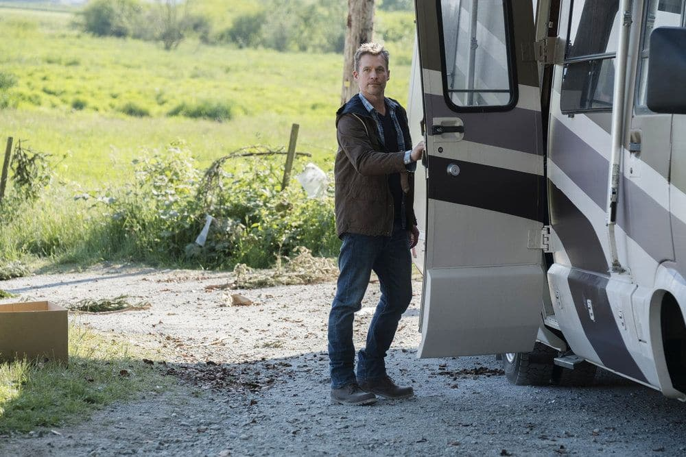 """AFTERMATH -- """"RVL 6768"""" Episode 101 -- Pictured: James Tupper as Joshua Copeland -- (Photo by: Eike Schroter/Aftermath ULC/Syfy)"""