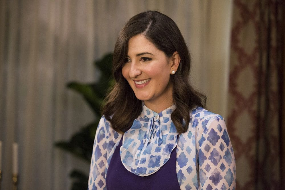 "THE GOOD PLACE -- ""Jason Mendoza"" Episode 104 -- Pictured: D'Arcy Carden as Janet -- (Photo by: Justin Lubin/NBC)"