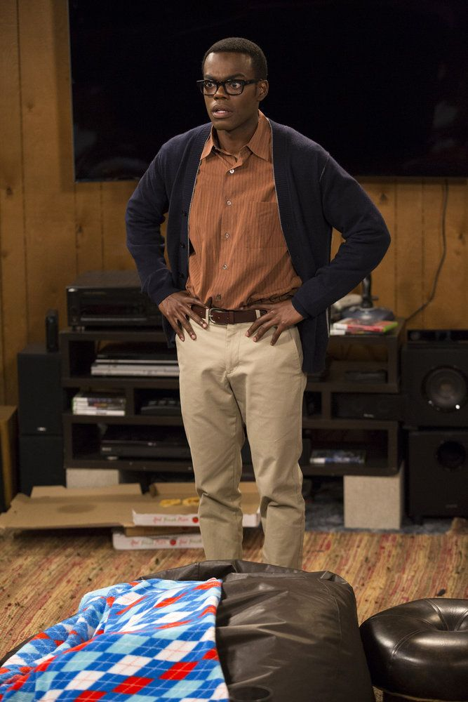 "THE GOOD PLACE -- ""Jason Mendoza"" Episode 104 -- Pictured: William Jackson Harper as Chidi -- (Photo by: Justin Lubin/NBC)"