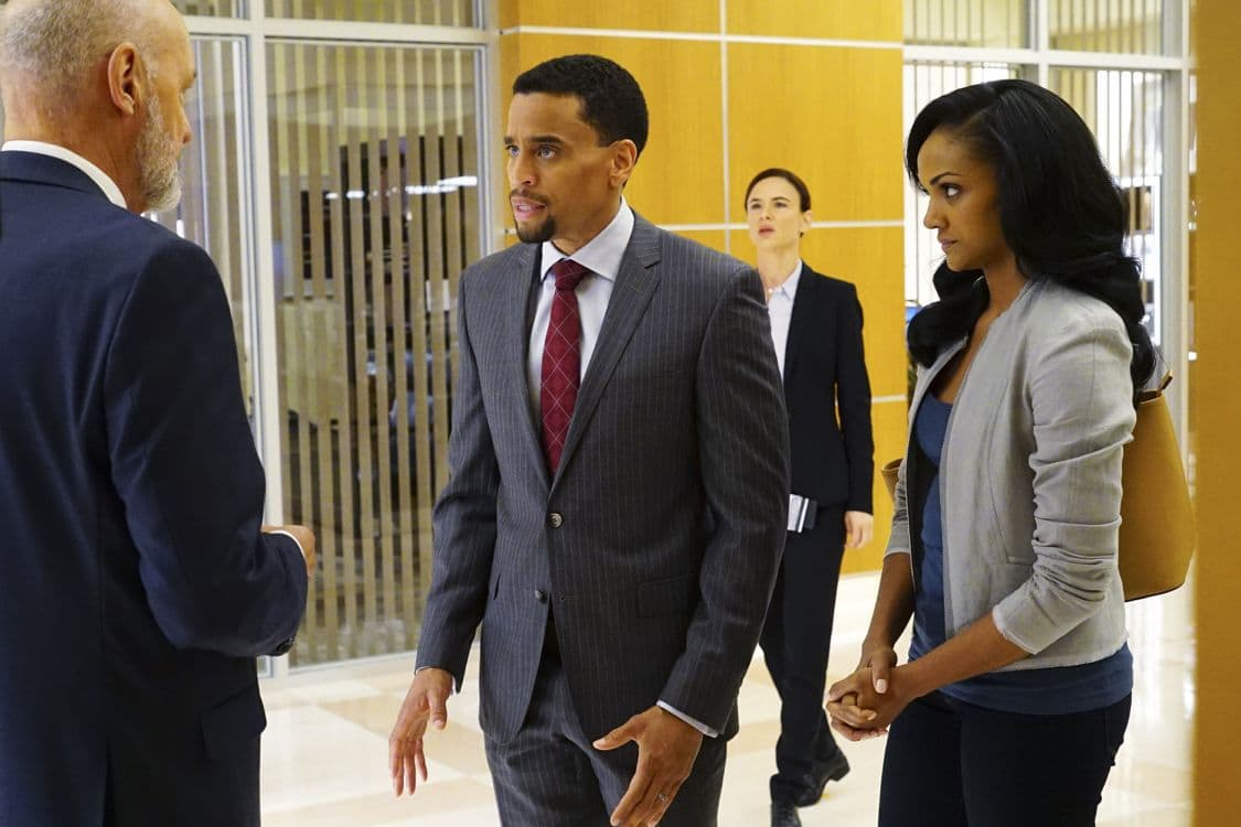 """SECRETS AND LIES - """"The Fall"""" - The explosive power of people's secrets and lies will once again take center stage in season two of ABC's hit drama """"Secrets and Lies,"""" focusing on a brand-new case and a new suspect in another 10-episode thrilling who-done-it, premiering on SUNDAY, SEPTEMBER 25 (9:00-10:00 p.m. EDT), on the ABC Television Network. (ABC/Richard Cartwright) TERRY O'QUINN, MICHAEL EALY, JULIETTE LEWIS, MEKIA COX"""