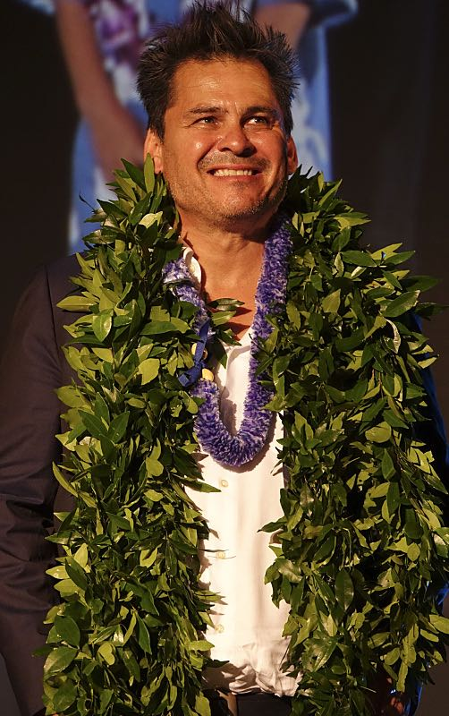 Hawaii Five-0 Executive Producer Peter Lenkov looks on while on stage at the seventh annual Sunset on the Beach event, where thousands of Oahu residents and visitors gathered in Waikiki to watch the season seven premiere of Hawaii Five-0, titled Makaukau 'oe e pa 'ani, on Friday, Sept. 23, 2016, in Honolulu. Photo: Norman Shapiro/CBS © 2016 CBS Broadcasting, Inc. All Rights Reserved