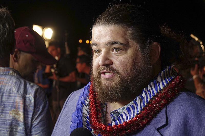 """Jorge Garcia who plays the part of """"Jerry Ortega"""" is interviewed by the media on the red carpet at the seventh annual Sunset on the Beach event, where thousands of Oahu residents and visitors gathered in Waikiki to watch the season seven premiere of Hawaii Five-0, titled Makaukau 'oe e pa 'ani, on Friday, Sept. 23, 2016, in Honolulu. Photo: Hugh Gentry/CBS © 2016 CBS Broadcasting, Inc. All Rights Reserved"""
