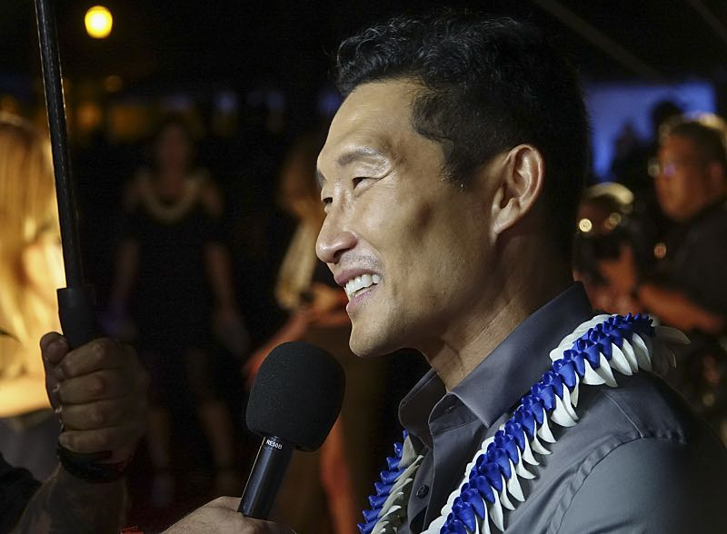 """Daniel Dae Kim who plays the part of """"Chin Ho Kelly"""" is interviewed on the red carpet at the seventh annual Sunset on the Beach event, where thousands of Oahu residents and visitors gathered in Waikiki to watch the season seven premiere of Hawaii Five-0, titled Makaukau 'oe e pa 'ani, on Friday, Sept. 23, 2016, in Honolulu. Photo: Hugh Gentry/CBS © 2016 CBS Broadcasting, Inc. All Rights Reserved"""