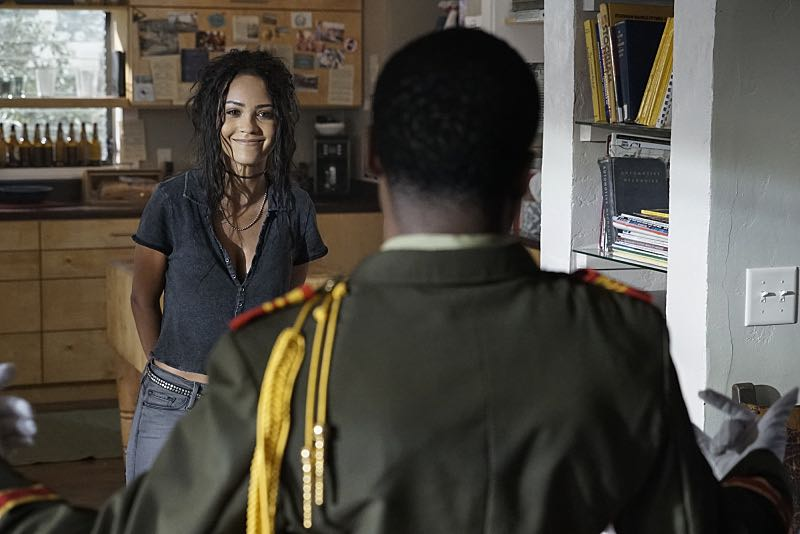 """""""Metal Saw"""" - MacGyver and the team attempt to rescue Sarah (Amy Acker), Jack's former CIA partner/ex-girlfriend who went missing in Venezuela after she obtained evidence to take down an international arms dealer, on MACGYVER, Friday, Sept. 30 (8:00-9:00 PM, ET/PT) on the CBS Television Network. Pictured: Tristin Mays, Justin Hires Photo: Jace Downs/CBS ©2016 CBS Broadcasting, Inc. All Rights Reserved"""