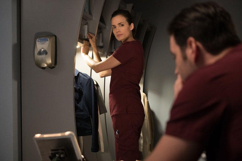 """CHICAGO MED -- """"Win Loss"""" Episode 202 -- Pictured: Torrey DeVitto as Natalie Manning -- (Photo by: Elizabeth Sisson/NBC)"""