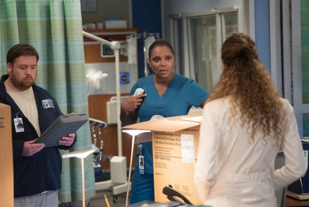 """CHICAGO MED -- """"Win Loss"""" Episode 202 -- Pictured: Marlyne Barrett as Maggie Lockwood -- (Photo by: Elizabeth Sisson/NBC)"""