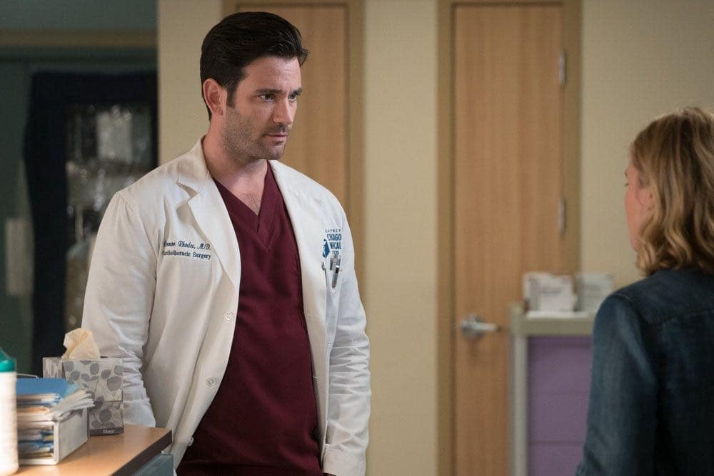 """CHICAGO MED -- """"Win Loss"""" Episode 202 -- Pictured: Colin Donnell as Connor Rhodes -- (Photo by: Elizabeth Sisson/NBC)"""