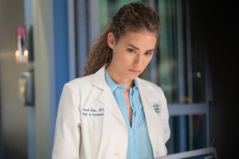"""CHICAGO MED -- """"Win Loss"""" Episode 202 -- Pictured: Rachel DiPillo as Sarah Reese -- (Photo by: Elizabeth Sisson/NBC)"""