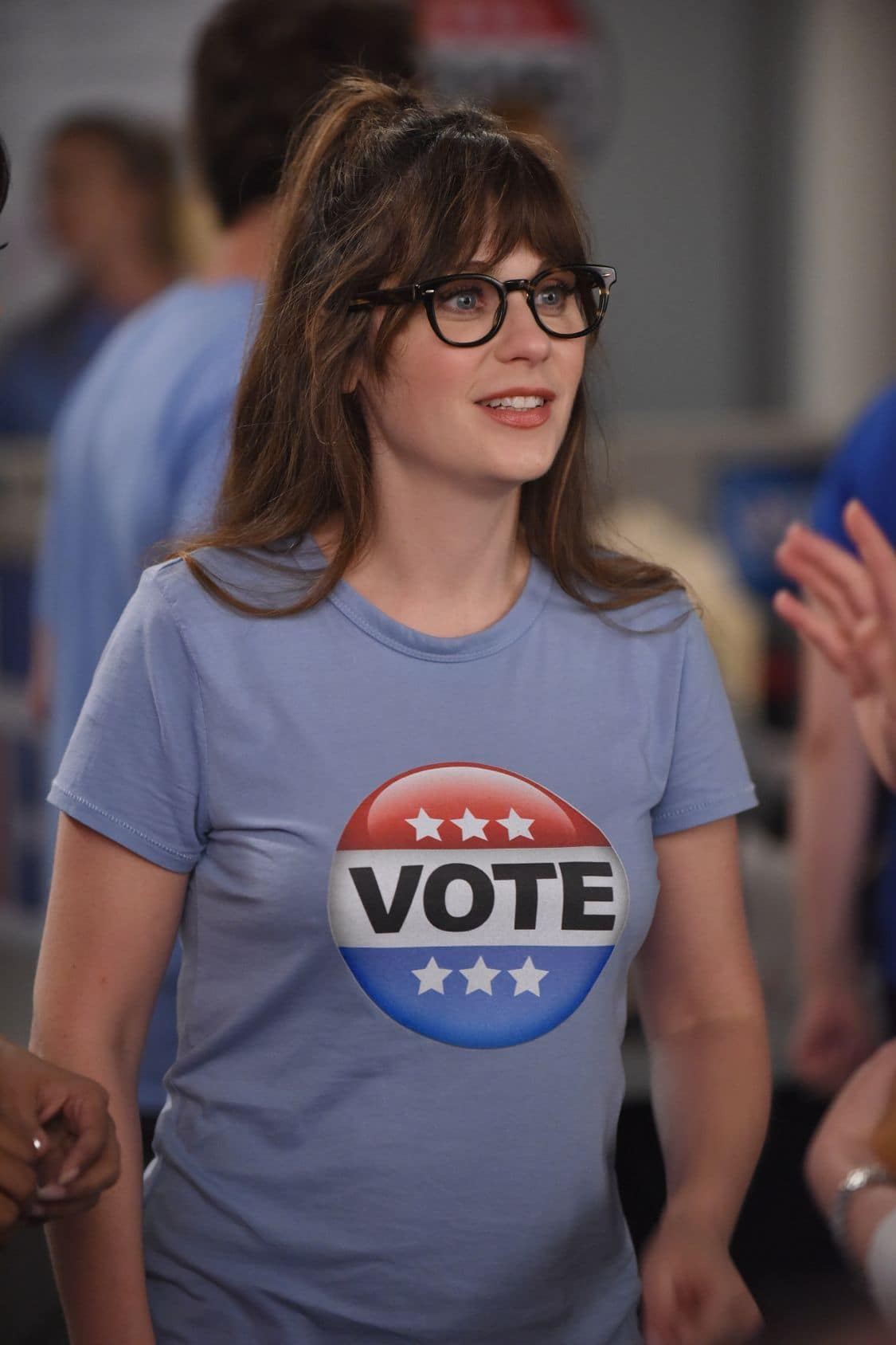 """NEW GIRL:   Zooey Deschanel in the """"Hubbedy Bubby"""" episode of NEW GIRL airing Tuesday, Sept. 27 (8:30-9:00 PM ET/PT) on FOX.  ©2016 Fox Broadcasting Co.  Cr:  Ray Mickshaw/FOX"""
