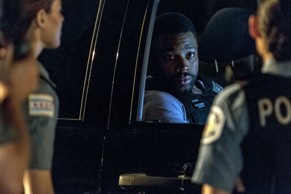 "CHICAGO P.D. -- ""Made a Wrong Turn"" Episode 402 -- Pictured: LaRoyce Hawkins as Kevin Atwater -- (Photo by: Matt Dinerstein/NBC)"