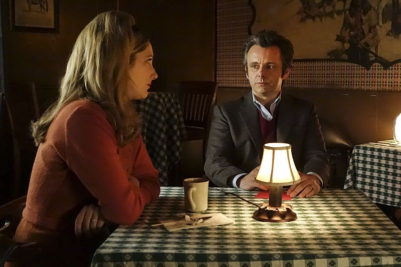 Judy Greer as Alice and Michael Sheen as Dr. William Masters in Masters of Sex (season 4, episode 3) - Photo: Warren Feldman/SHOWTIME - Photo ID: MastersofSex_403_0094