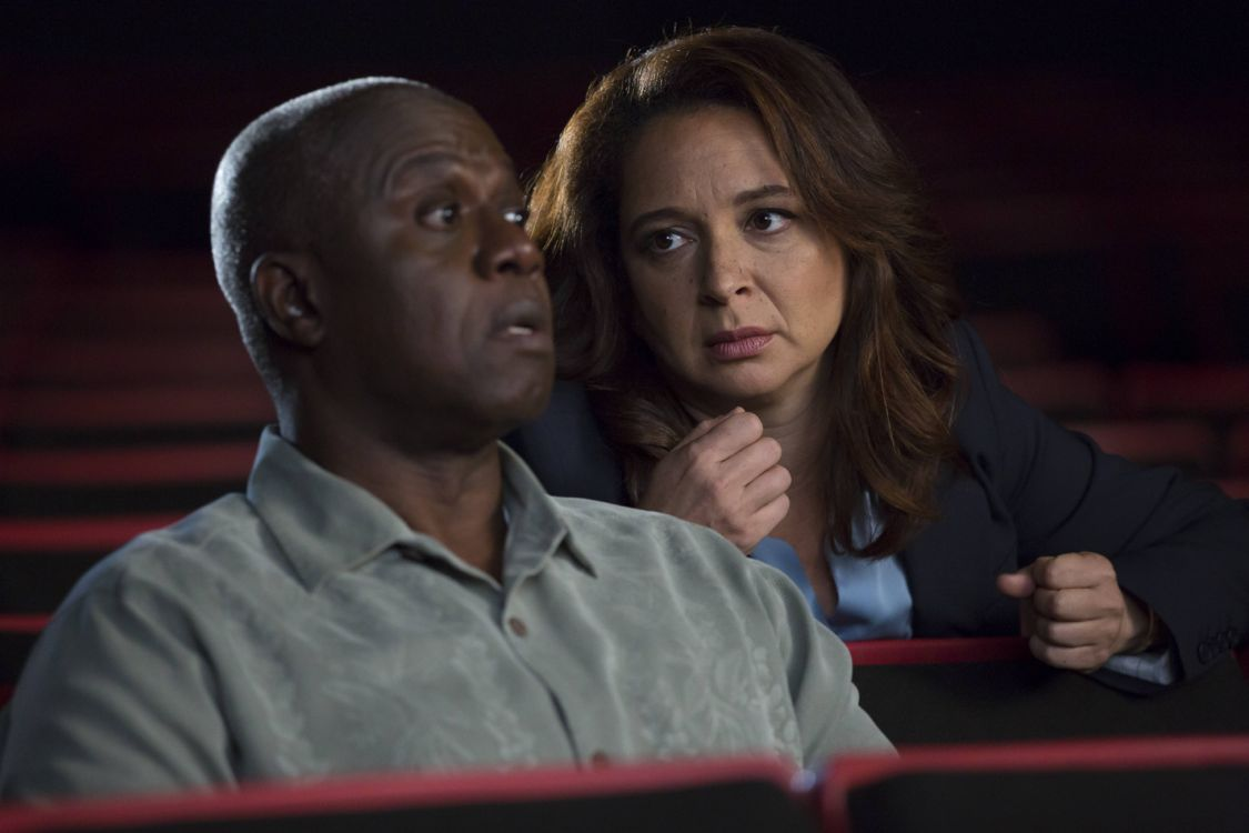 "BROOKLYN NINE-NINE: L-R: Andre Braugher and guest star Maya Rudolph in the ""Coral Palms Pt. 2"" episode of BROOKLYN NINE-NINE airing Tuesday, Sept. 27 (8:00-8:31 PM ET/PT) on FOX. ©2016 Fox Broadcasting Co. CR: John P Fleenor/FOX"