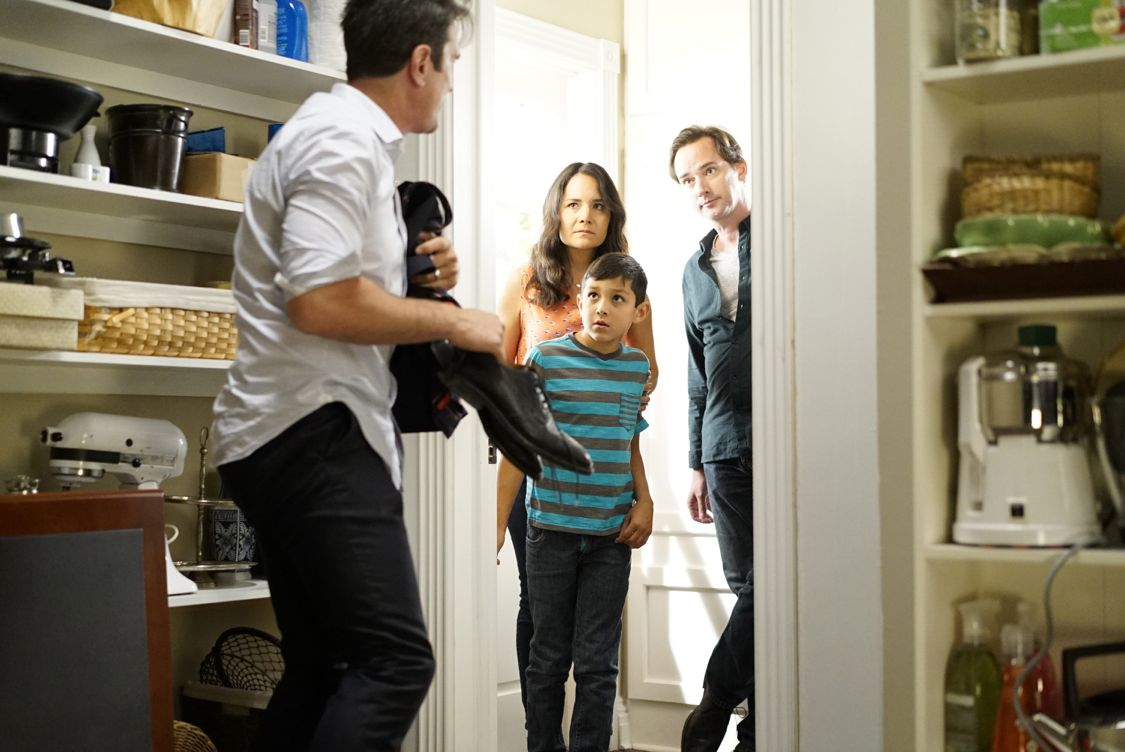 """MODERN FAMILY - """"A Stereotypical Day"""" - Jay does not want to give the new family moving in across the street the wrong impression and goes out of his way to make sure they know he is the best kind of neighbor, while Manny decides that the best way to an attractive and radical-thinking teenage girl's heart is through his actions. Meanwhile, at the Pritchett house, the entire family is using Alex's recent bout of mono to their advantage. Finally, Cam and Mitchell have always felt they were the most open, non-judgmental and supportive parents. However, when they overhear Lily insulting her new friend, they have to take a quick look in the mirror before they teach her a lesson about acceptance, on """"Modern Family,"""" WEDNESDAY, SEPTEMBER 28 (9:00-9:31 p.m. EDT), on the ABC Television Network. (ABC/Jennifer Clasen) TY BURRELL"""