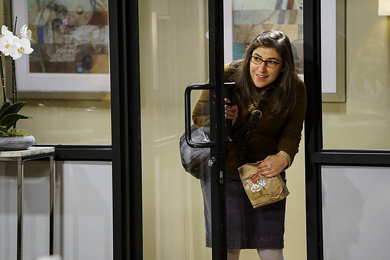 """""""The Military Miniaturization"""" -- Pictured: Amy Farrah Fowler (Mayim Bialik). Colonel Williams (Dean Norris), an Air Force representative from the Department of Material Command sits down to talk with Wolowitz, on THE BIG BANG THEORY, Monday, Sept. 26 (8:00-8:30, ET/PT), on the CBS Television Network. Photo: Sonja FlemmingCBS ©2016 CBS Broadcasting, Inc. All Rights Reserved."""