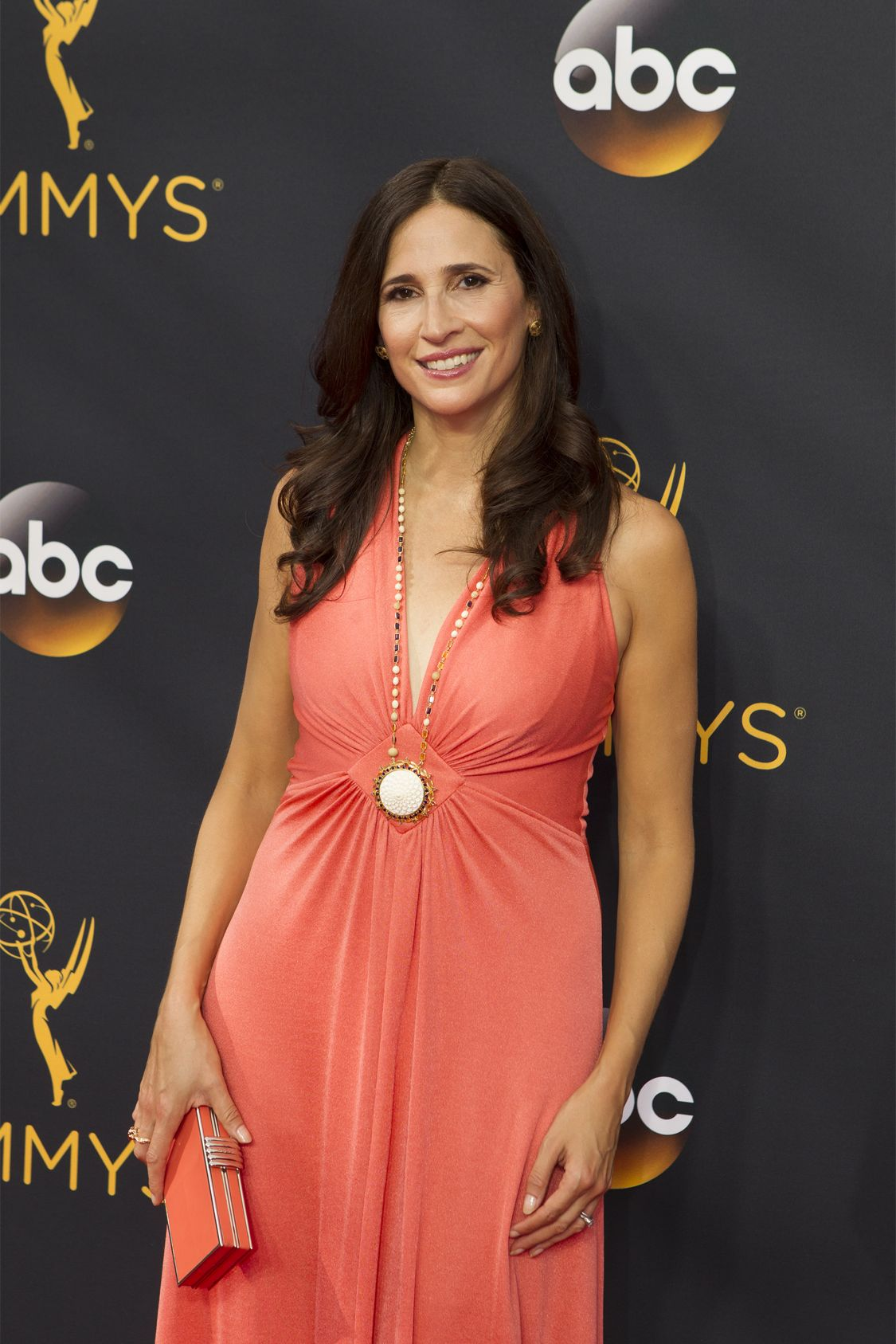 """THE 68TH EMMY(r) AWARDS - """"The 68th Emmy Awards"""" broadcasts live from The Microsoft Theater in Los Angeles, Sunday, September 18 (7:00-11:00 p.m. EDT/4:00-8:00 p.m. PDT), on ABC and is hosted by Jimmy Kimmel. (ABC/Rick Rowell) MICHAELA WATKINS"""