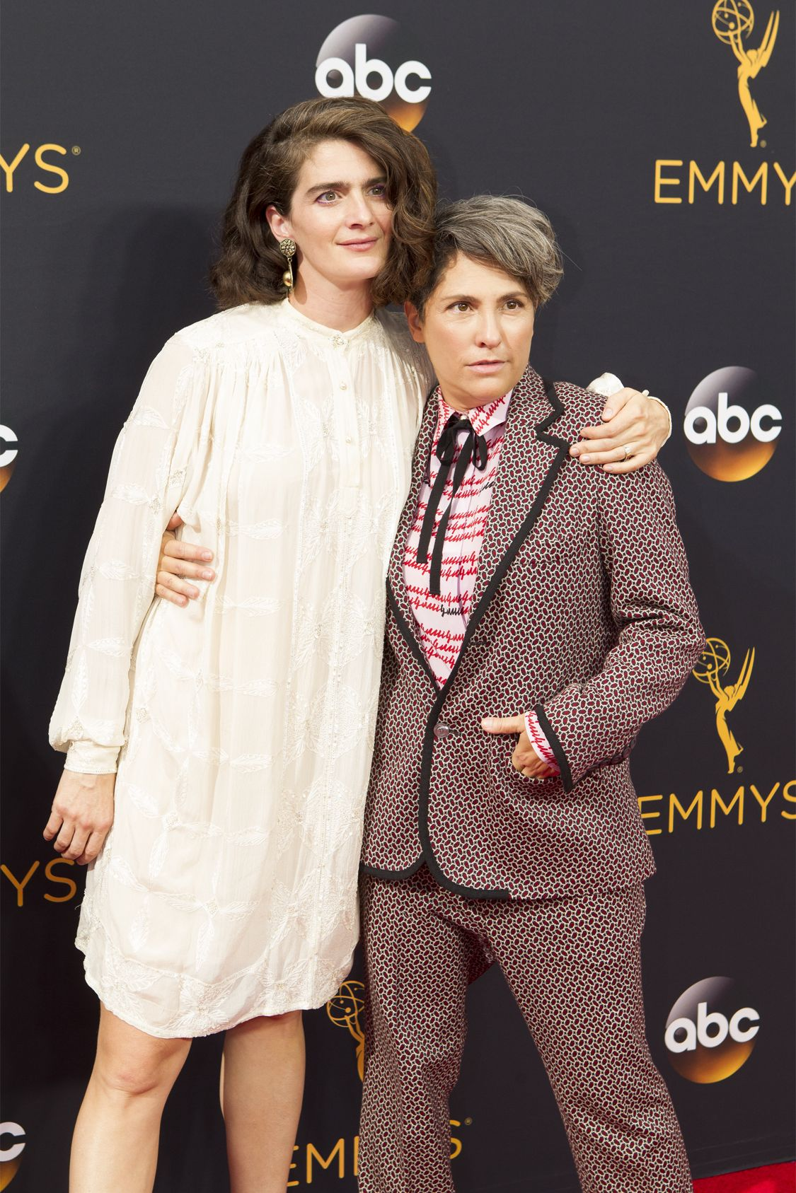 """THE 68TH EMMY(r) AWARDS - """"The 68th Emmy Awards"""" broadcasts live from The Microsoft Theater in Los Angeles, Sunday, September 18 (7:00-11:00 p.m. EDT/4:00-8:00 p.m. PDT), on ABC and is hosted by Jimmy Kimmel. (ABC/Rick Rowell) GABBY HOFFMAN, JILL SOLOWAY"""