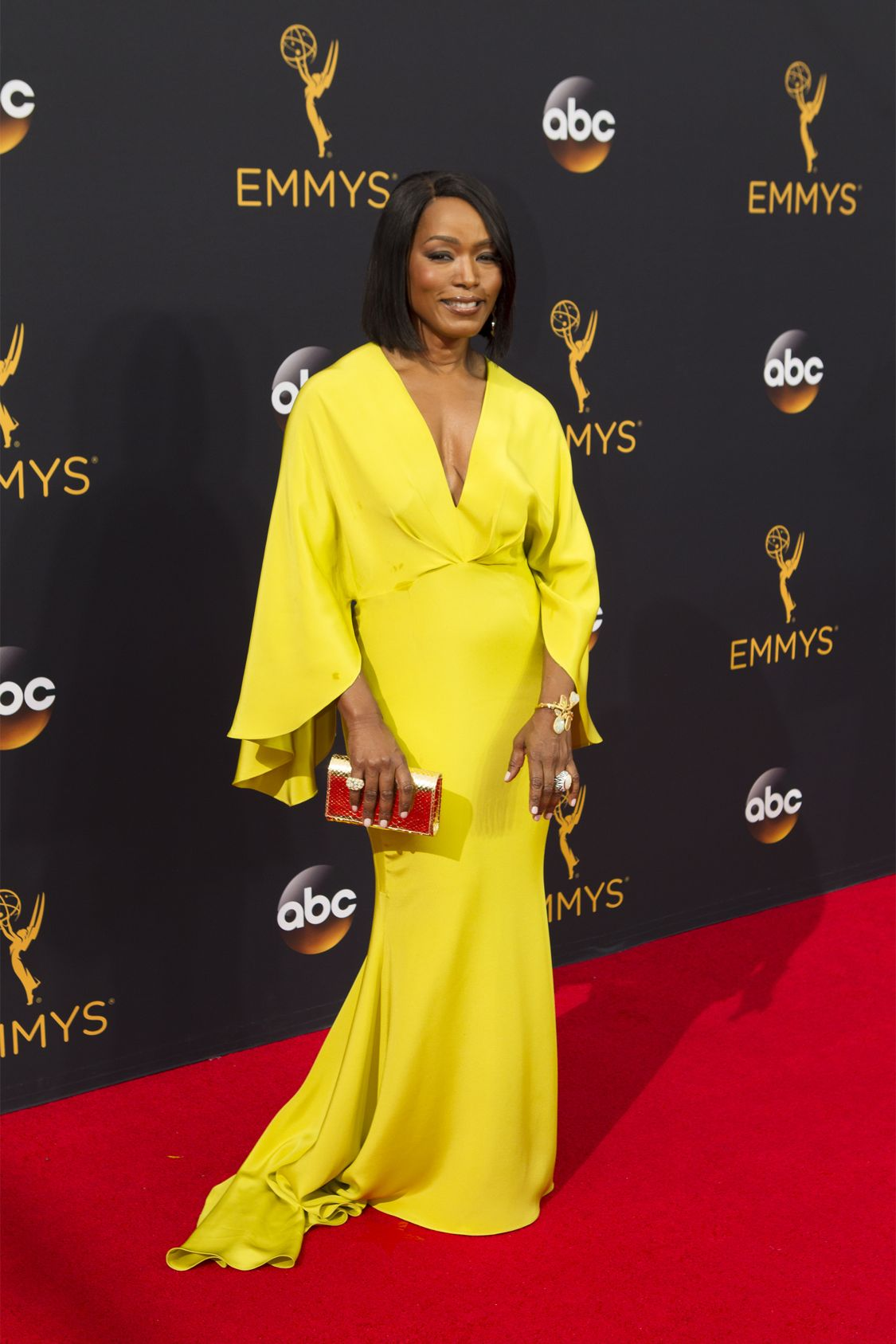 """THE 68TH EMMY(r) AWARDS - """"The 68th Emmy Awards"""" broadcasts live from The Microsoft Theater in Los Angeles, Sunday, September 18 (7:00-11:00 p.m. EDT/4:00-8:00 p.m. PDT), on ABC and is hosted by Jimmy Kimmel. (ABC/Rick Rowell) ANGELA BASSETT"""