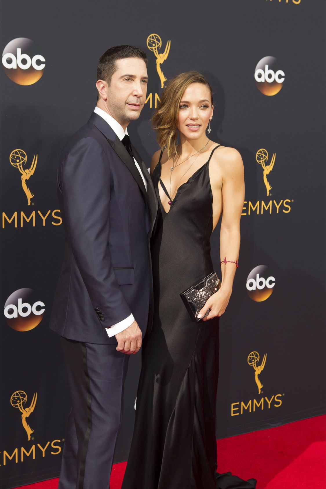 """THE 68TH EMMY(r) AWARDS - """"The 68th Emmy Awards"""" broadcasts live from The Microsoft Theater in Los Angeles, Sunday, September 18 (7:00-11:00 p.m. EDT/4:00-8:00 p.m. PDT), on ABC and is hosted by Jimmy Kimmel. (ABC/Rick Rowell) DAVID SCHWIMMER, ZOE BUCKMAN"""