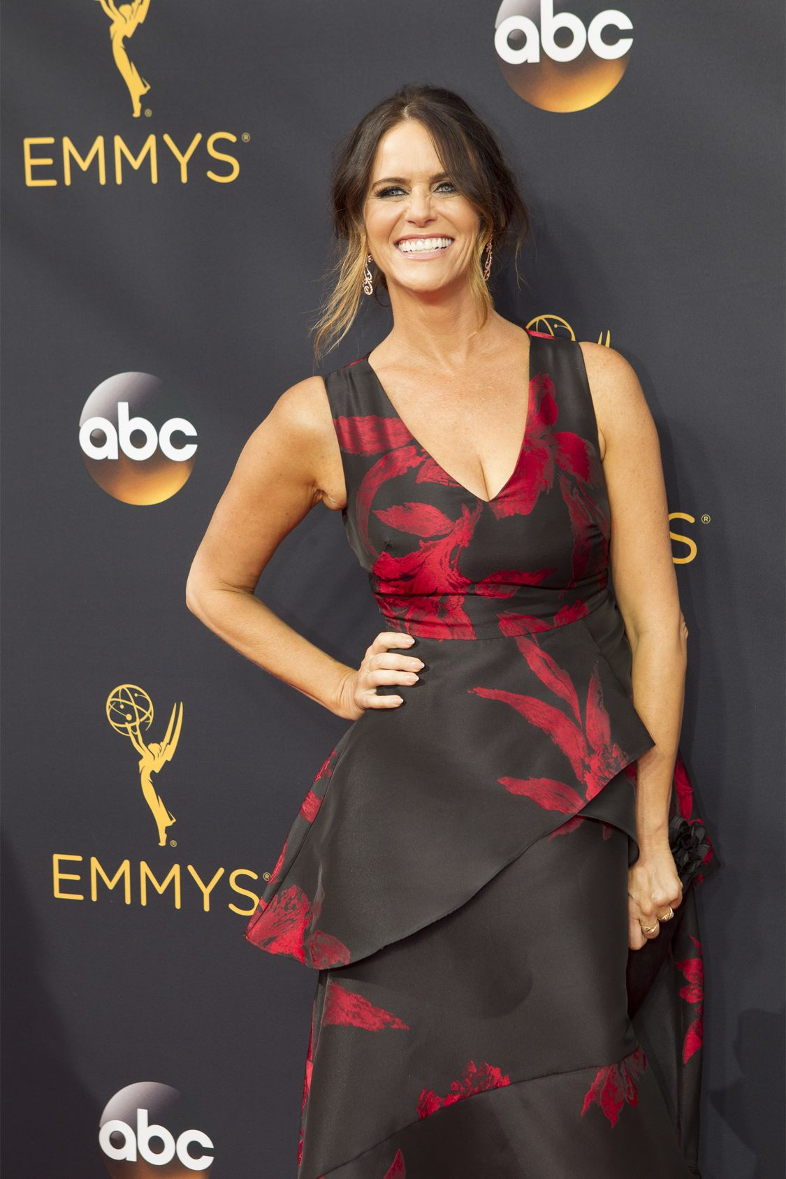 """THE 68TH EMMY(r) AWARDS - """"The 68th Emmy Awards"""" broadcasts live from The Microsoft Theater in Los Angeles, Sunday, September 18 (7:00-11:00 p.m. EDT/4:00-8:00 p.m. PDT), on ABC and is hosted by Jimmy Kimmel. (ABC/Rick Rowell) AMY LANDECKER"""